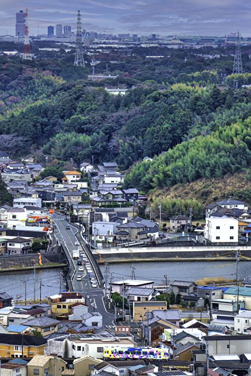 奥浜名湖より都心を望む