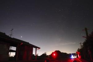 火星と天の川と宮口駅